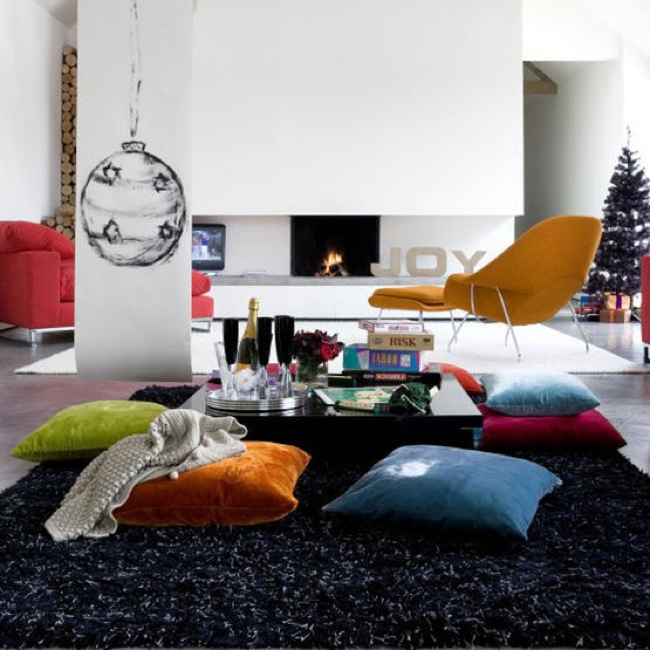 Living Room Floor Cushions