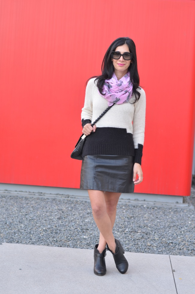 How to Wear a Leather Skirt Casually