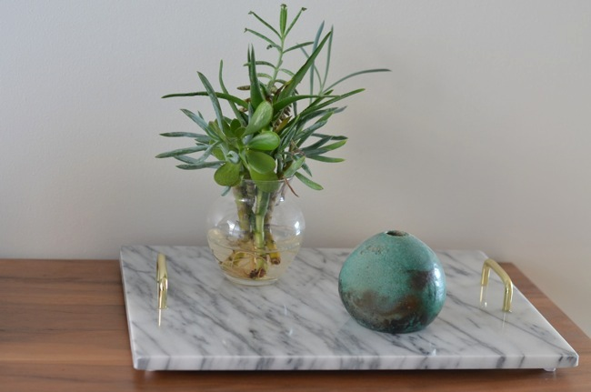 marblebrass tray