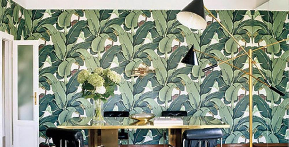 Guest Bathroom: Martinique Wallpaper
