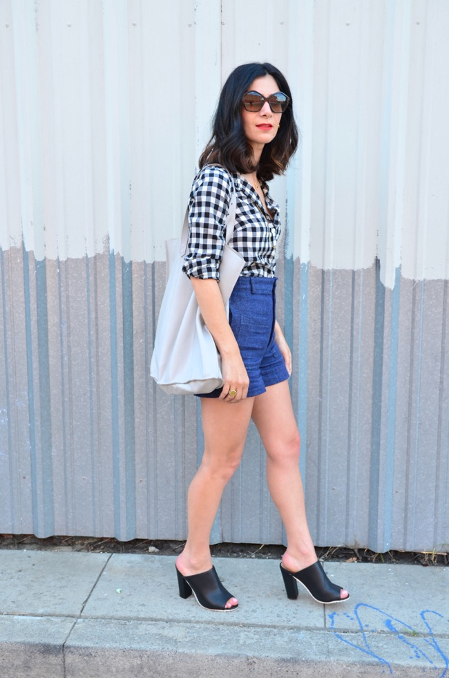 outfits with denim shorts
