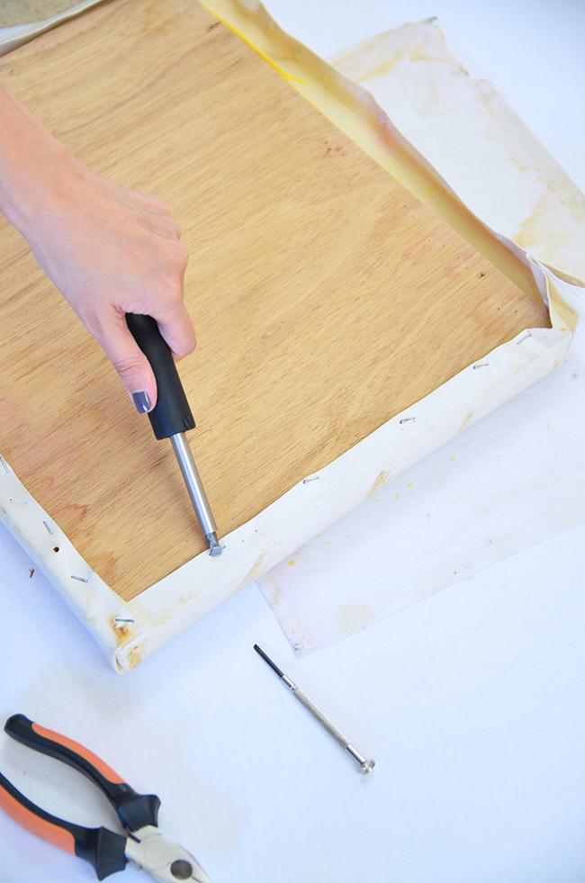 diy stool remove nails