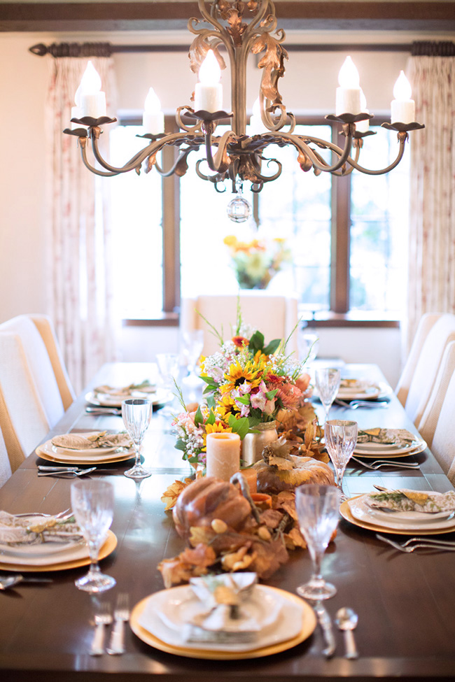 traditional glamorous centerpiece