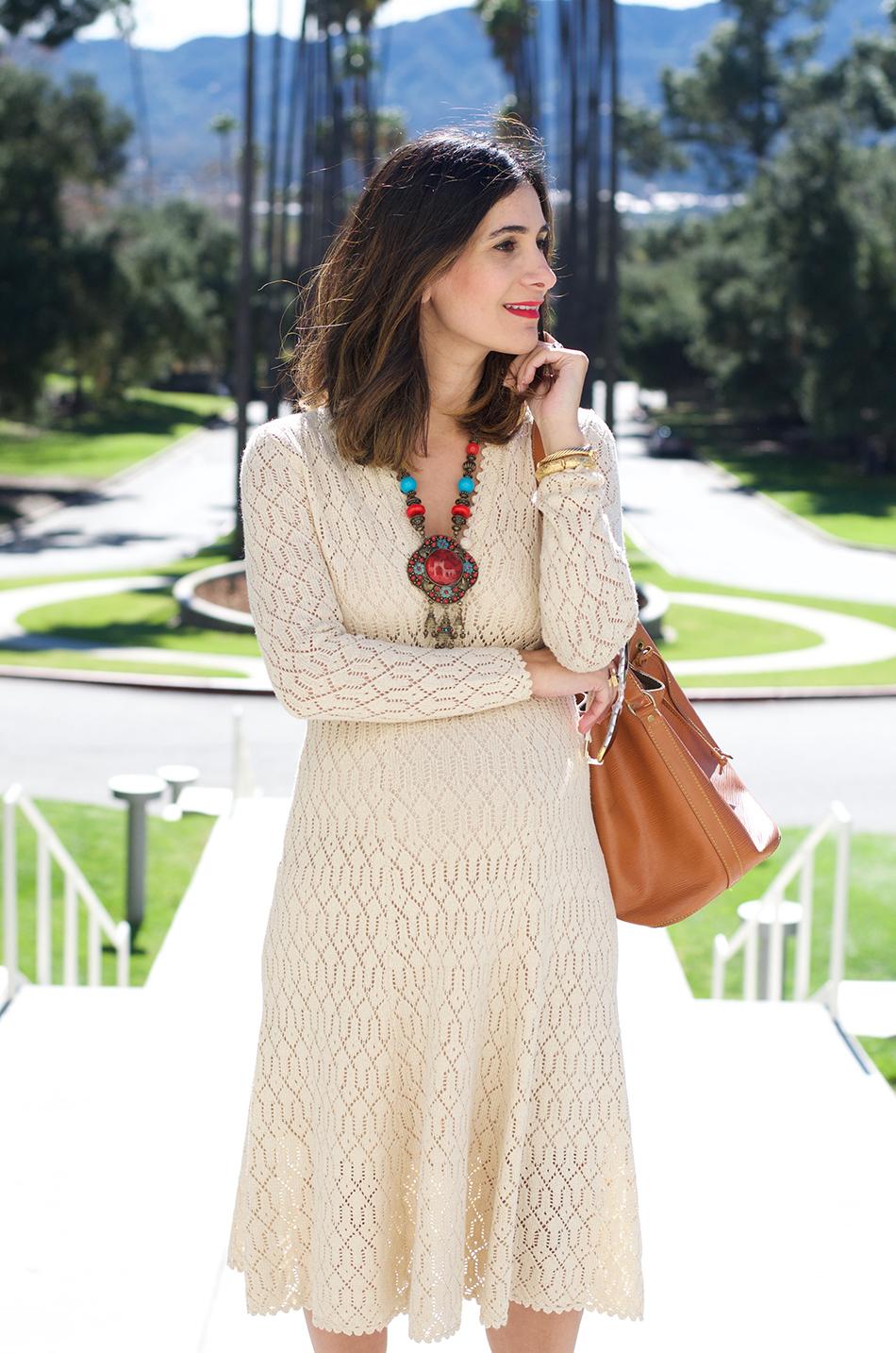 vintage crochet dress