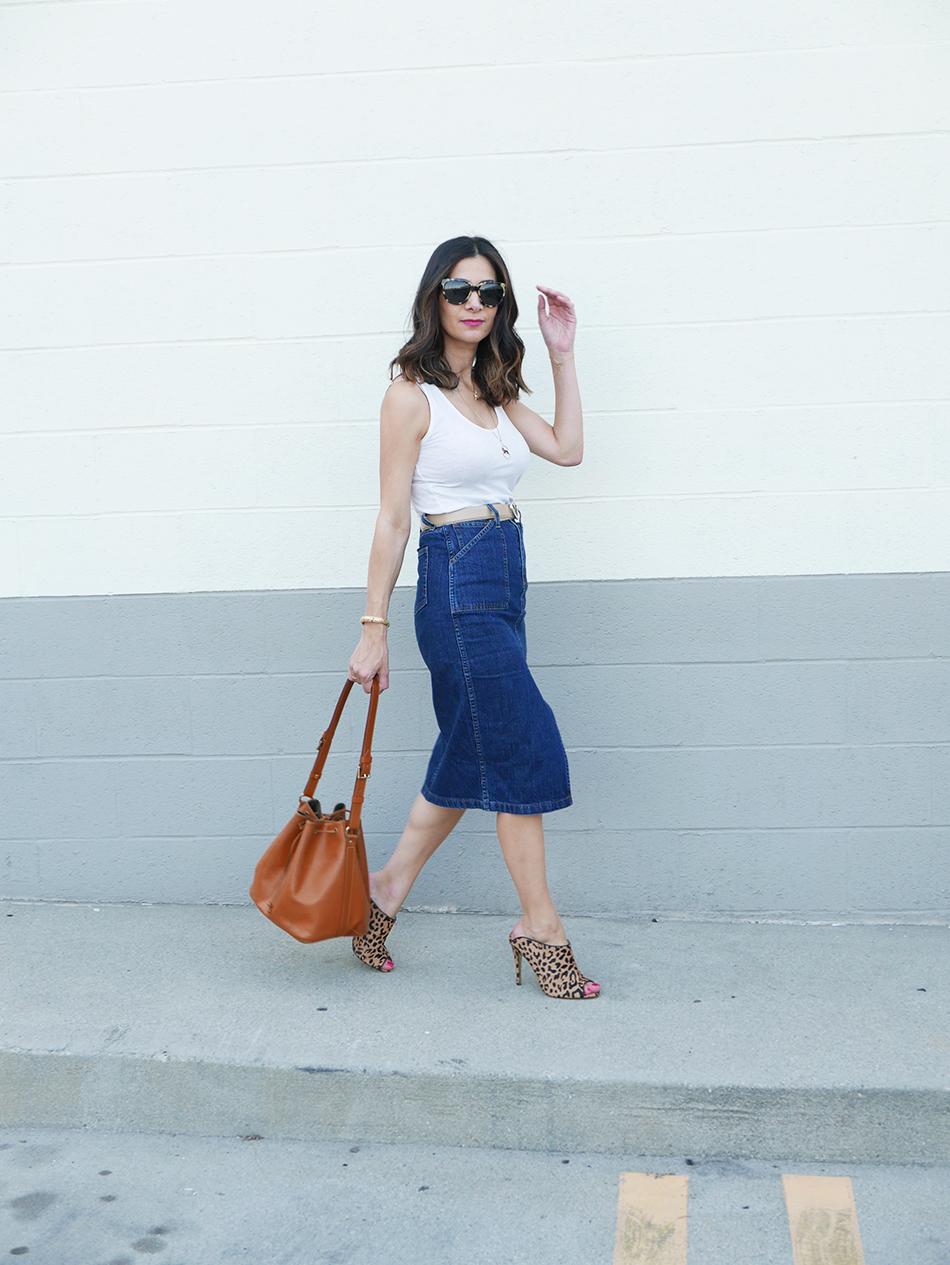 high waist denim skirt 1