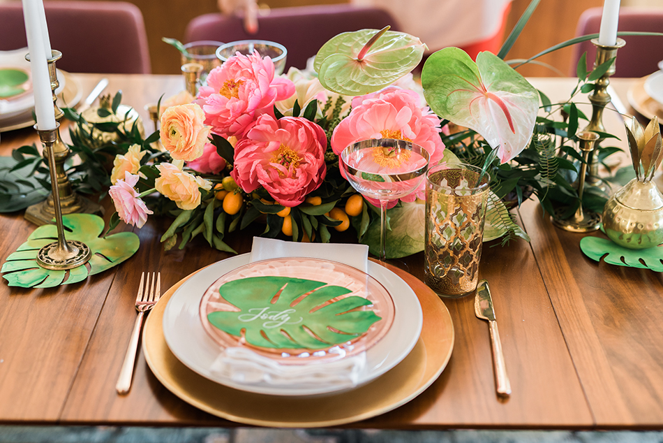 tropical inspired valentine party