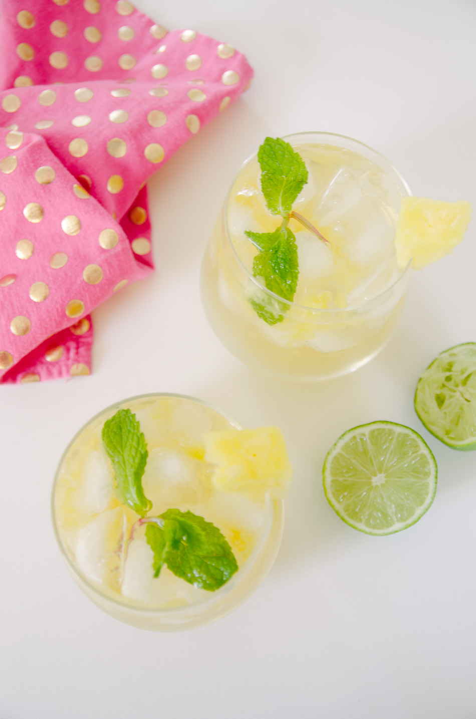 pineapple coconut mojitos