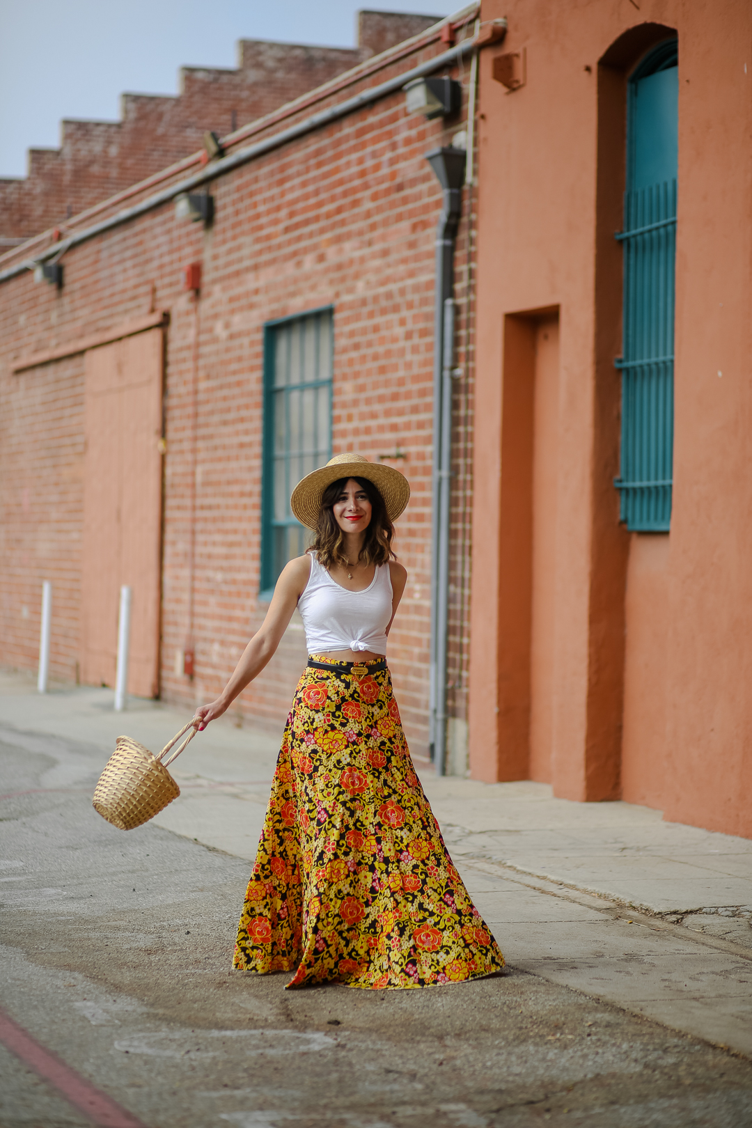 styling a maxi dress with a crop top