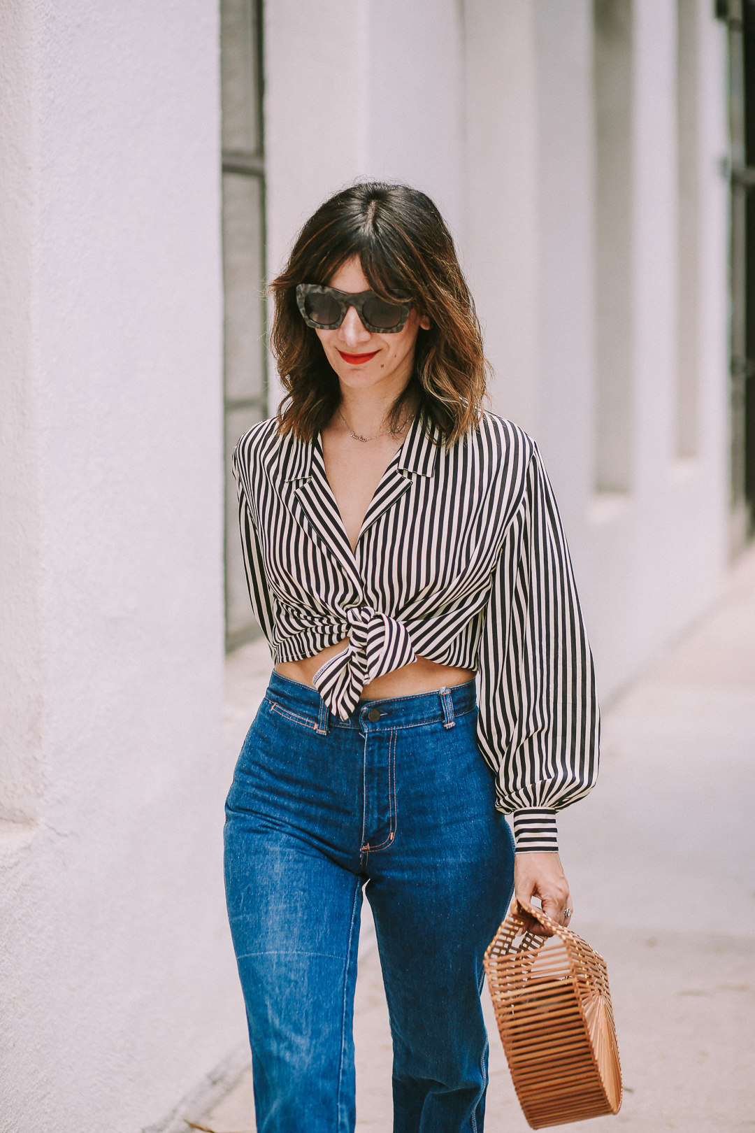 how to style a striped shirt casually