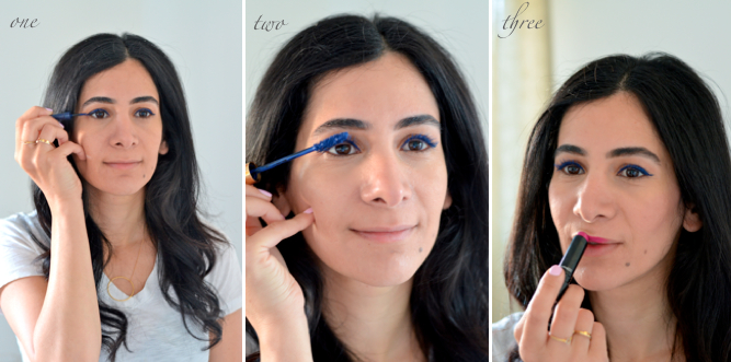 blue eyeliner how to