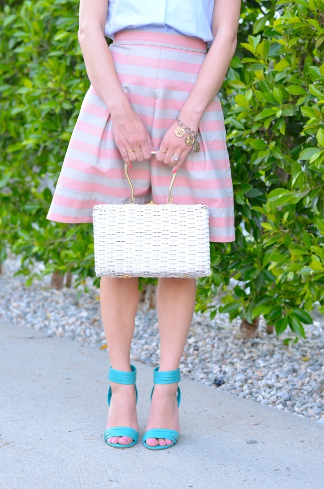 anthropologie stripe skirt