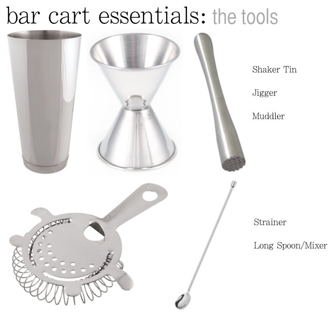 bar cart essentials tools