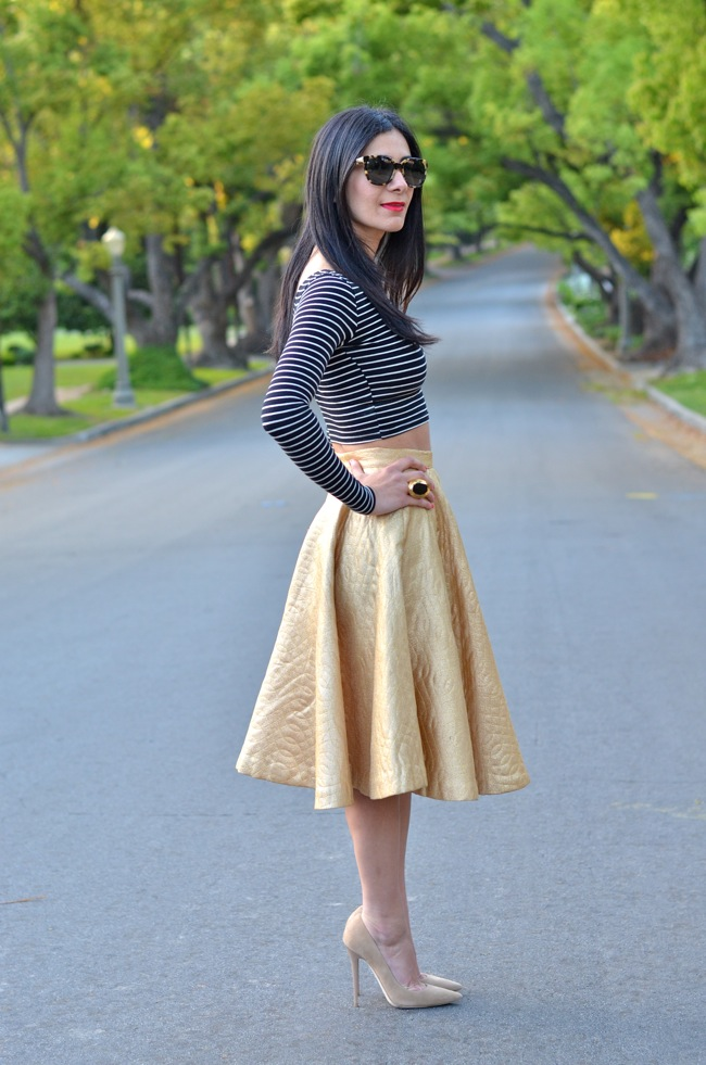 crop top party skirt