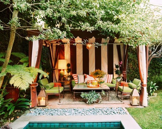 eclectic cabana patio