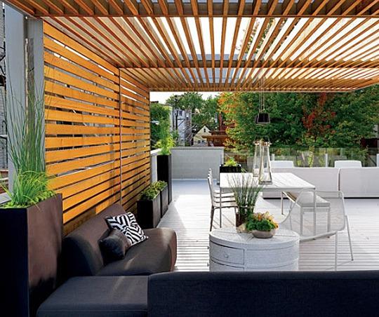 modern pergola mid century patio