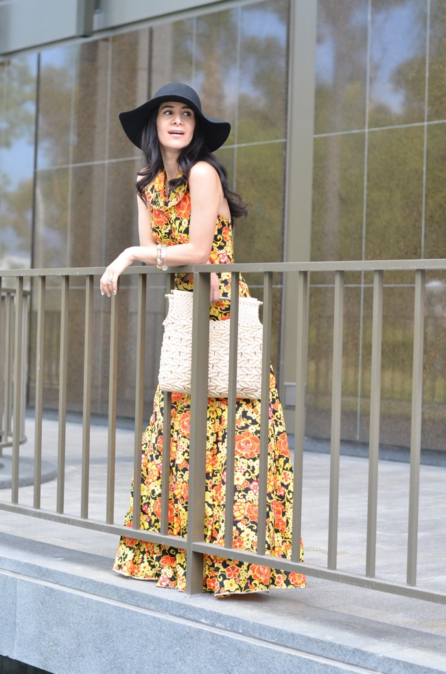 vintage halter top maxi skirt