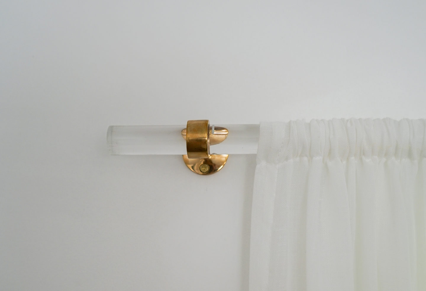 DIY Brass & Lucite Curtain Rod