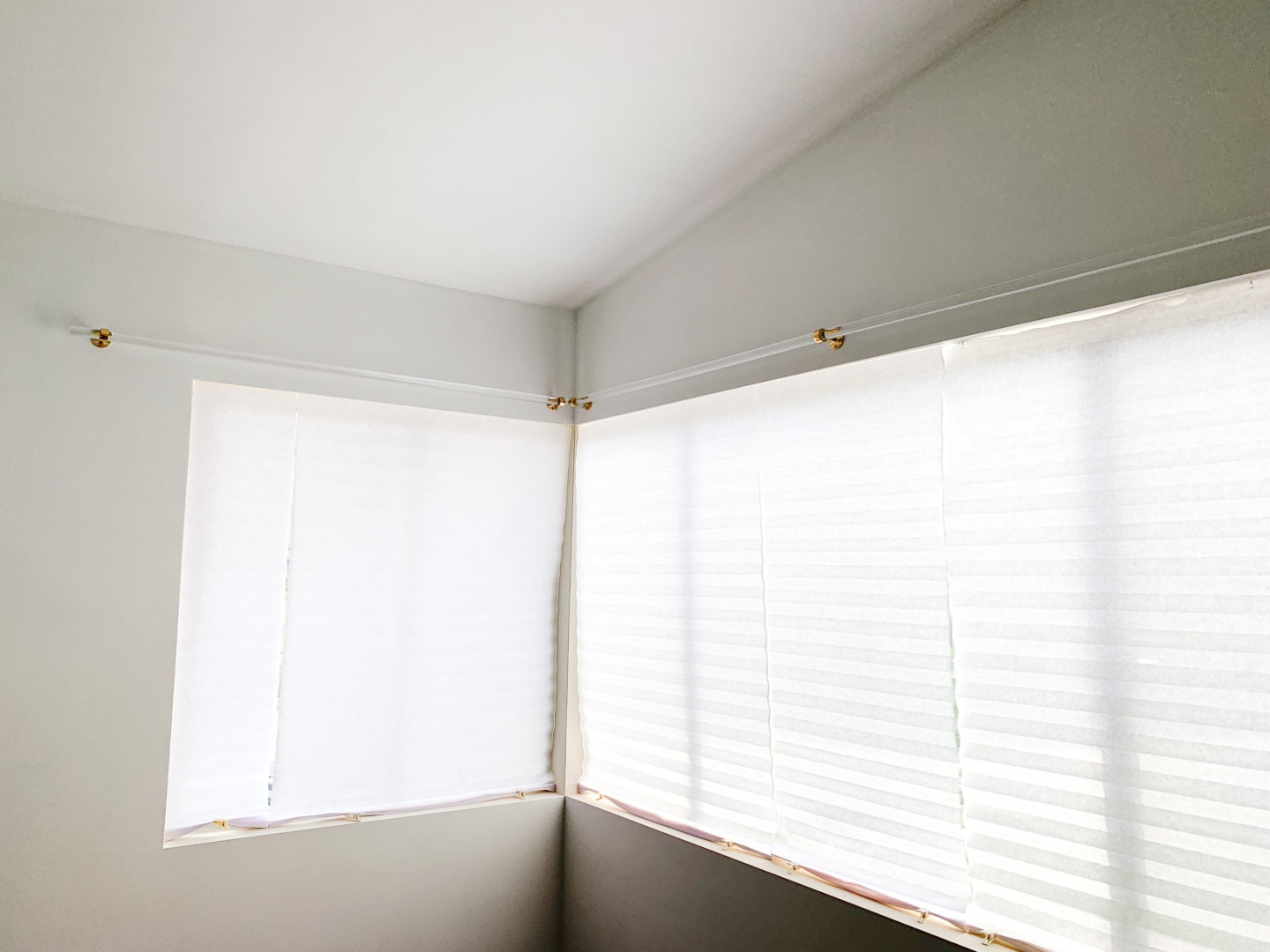 DIY Brass & acrylic Curtain Rod