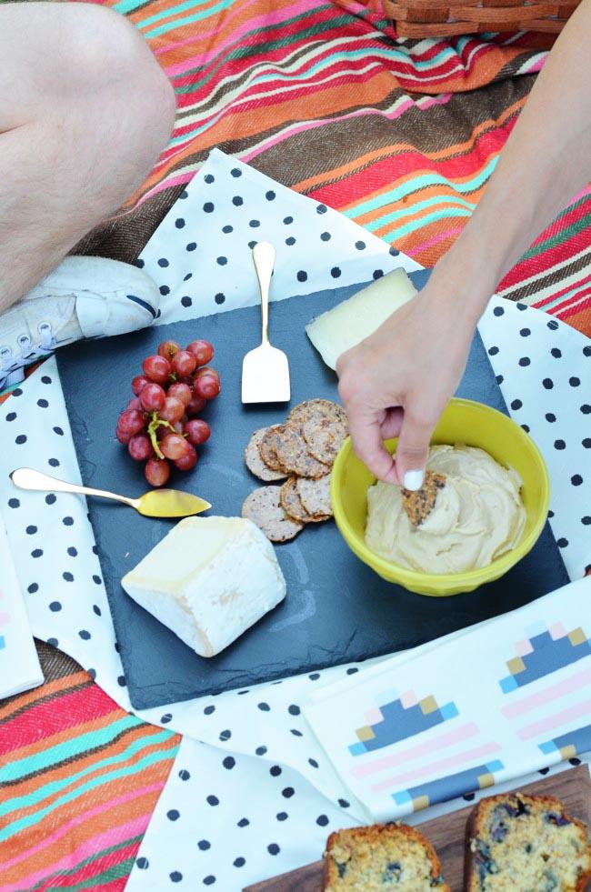 cheese and hummus
