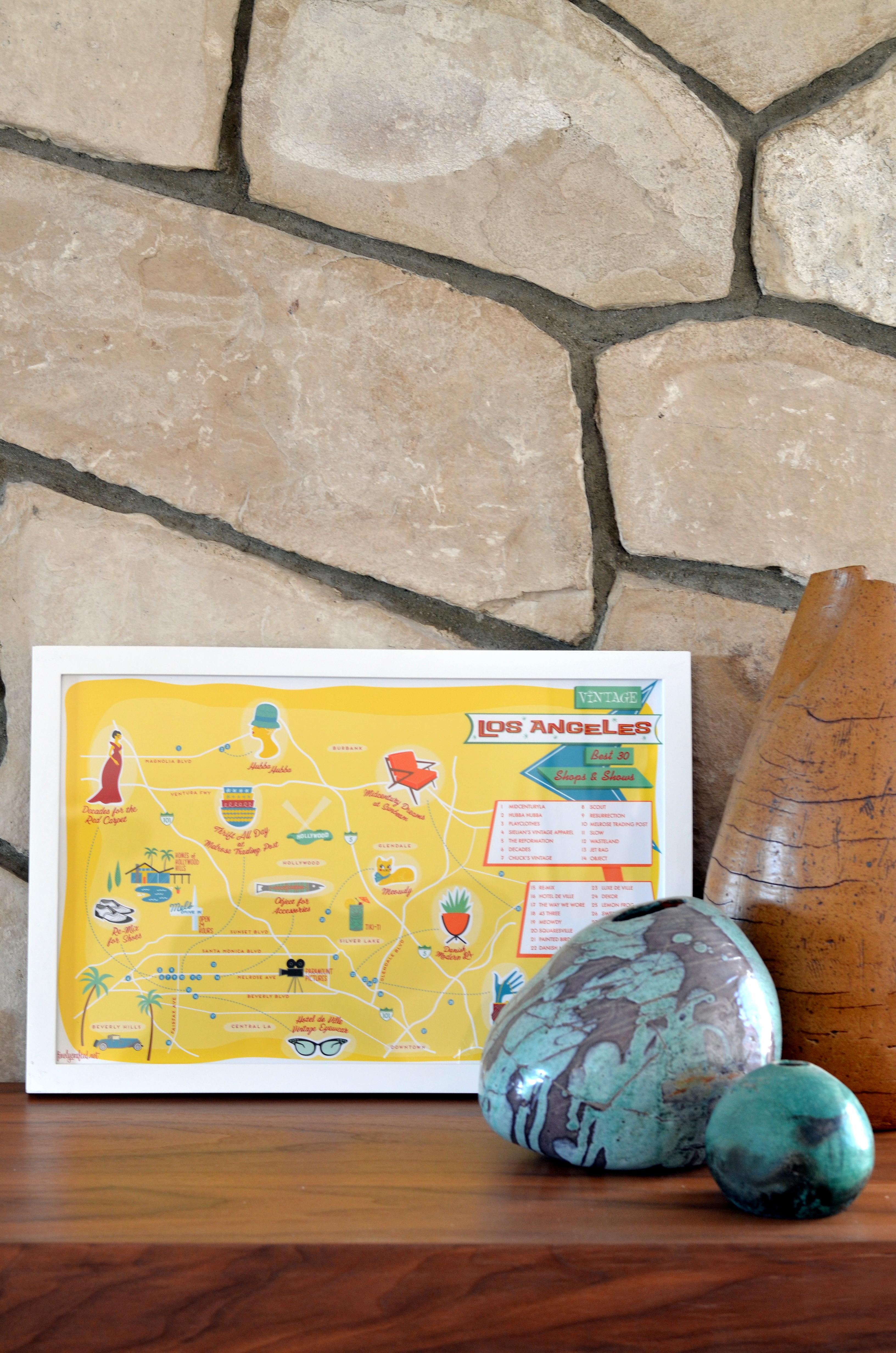la vintage shopping map