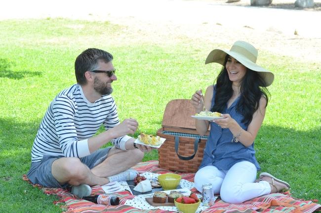 picnic blanket laughs