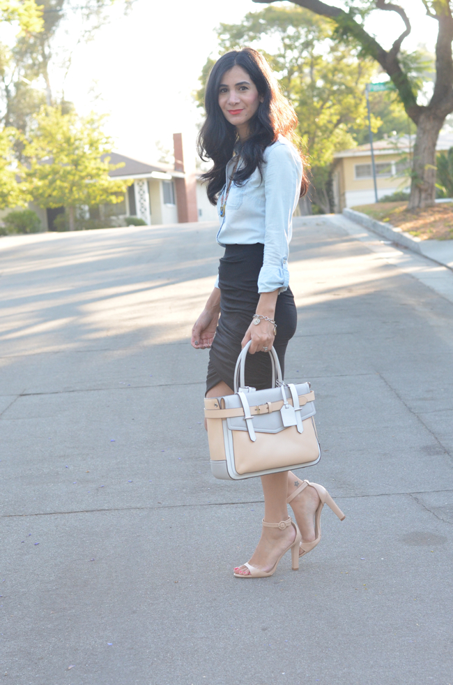 dailylook ruched skirt