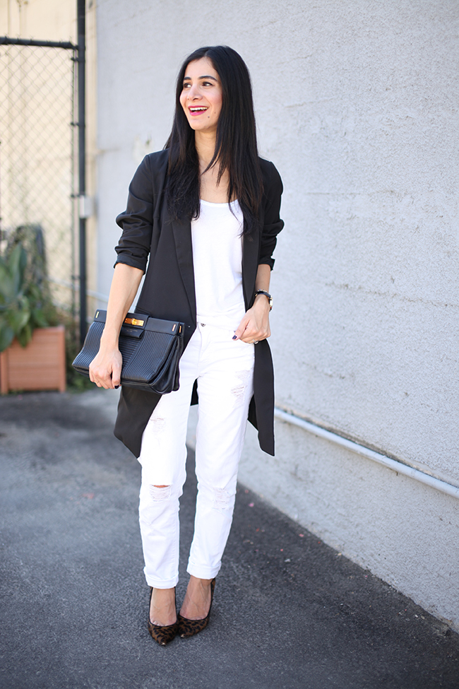 new product great deals 2017 new items black blazer white jeans