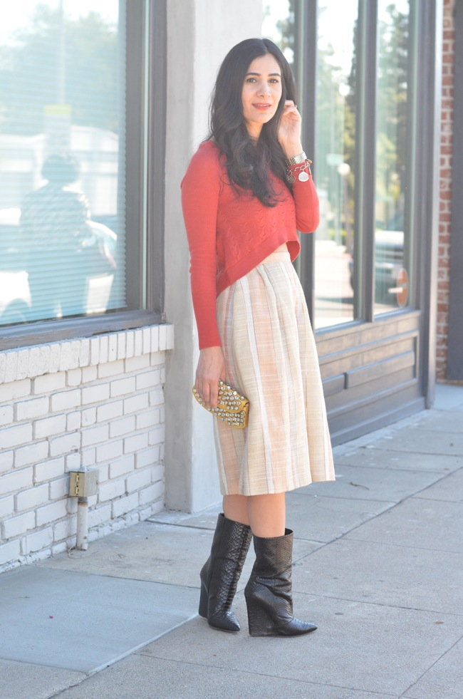 Midi Dress with Boots Sweater