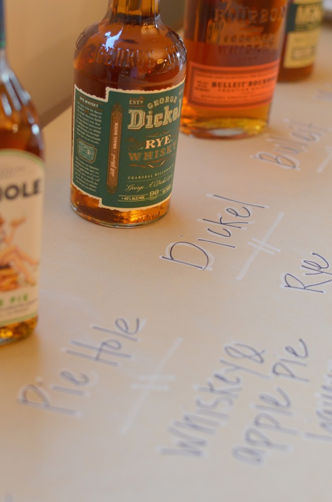 friendsgiving whiskey tasting