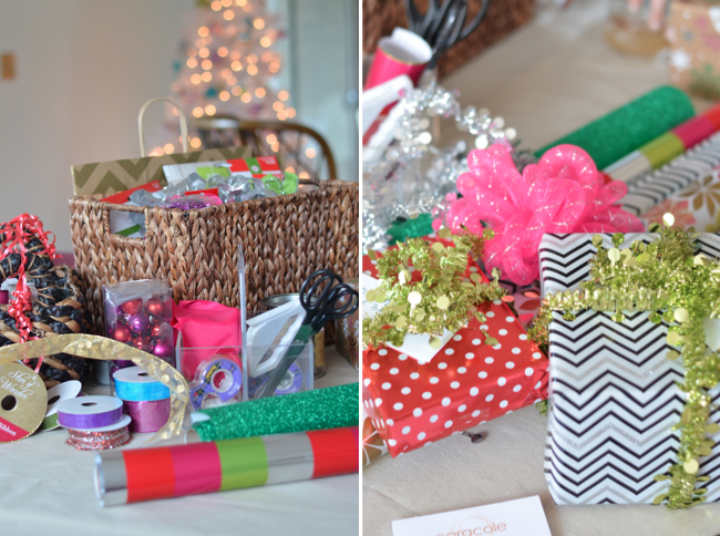 gift wrap and ribbon