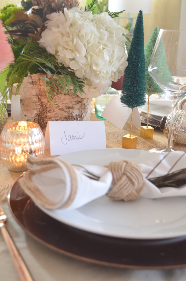 rustic and glam setting