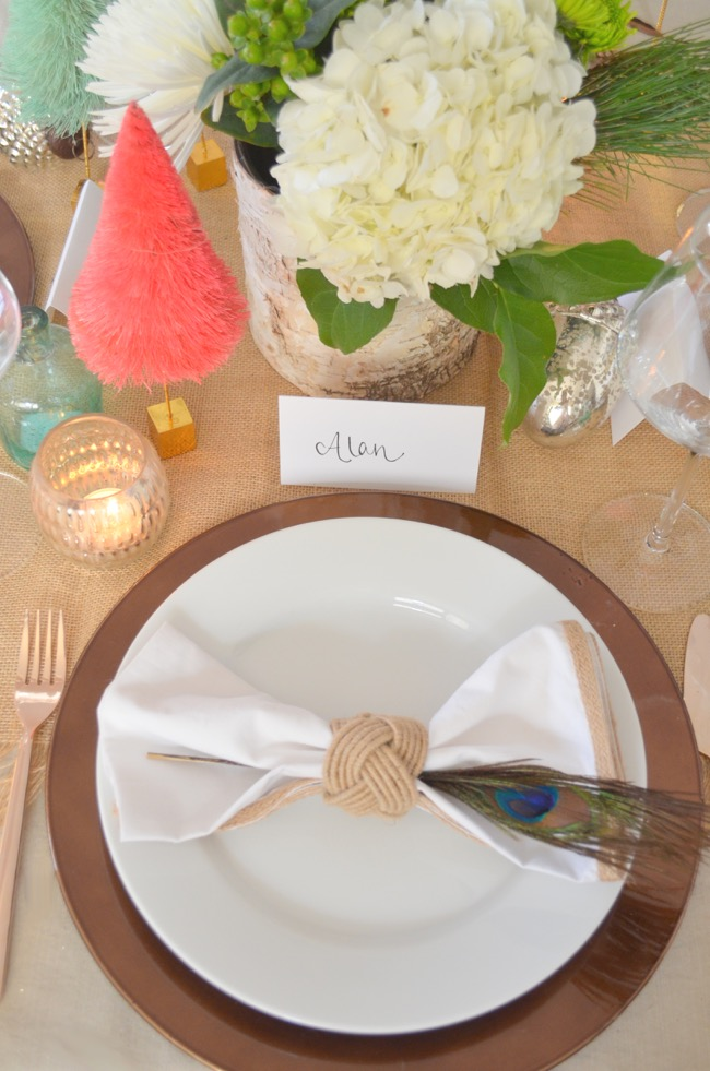 rustic glam dinner table