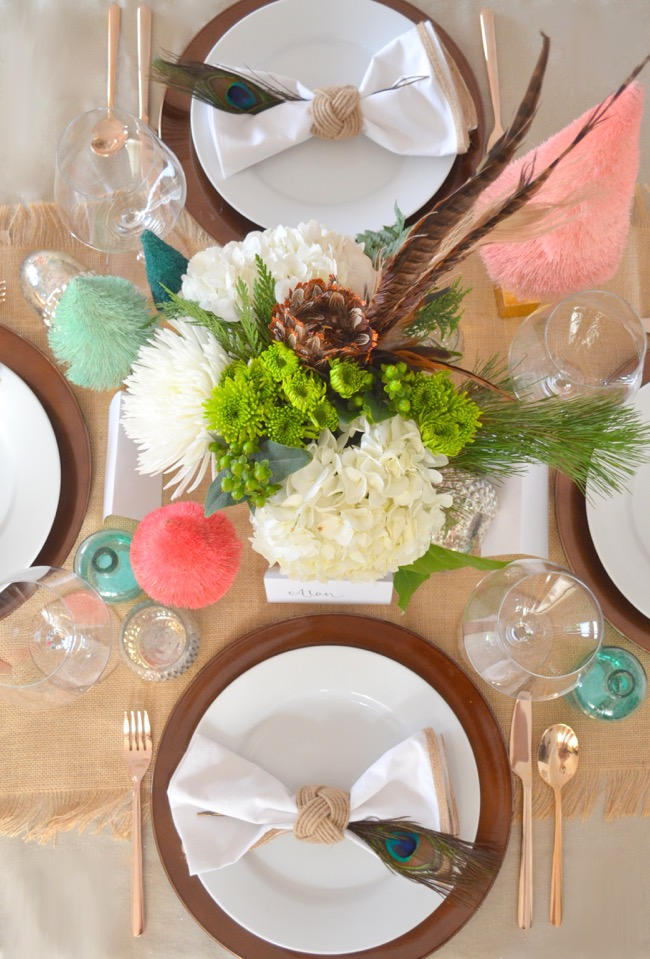 rustic glam table setting