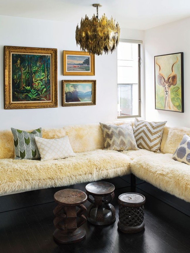 milo baughman sofa living room