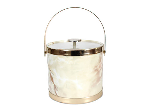 vintage marble ice bucket