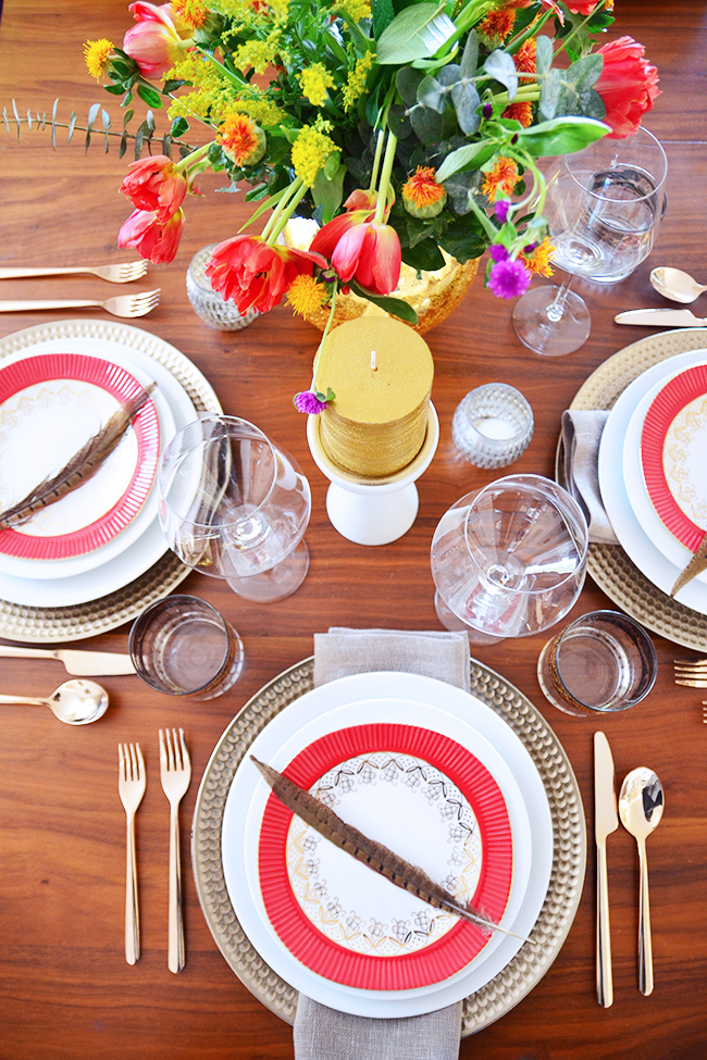 luxe thanksgiving table setting