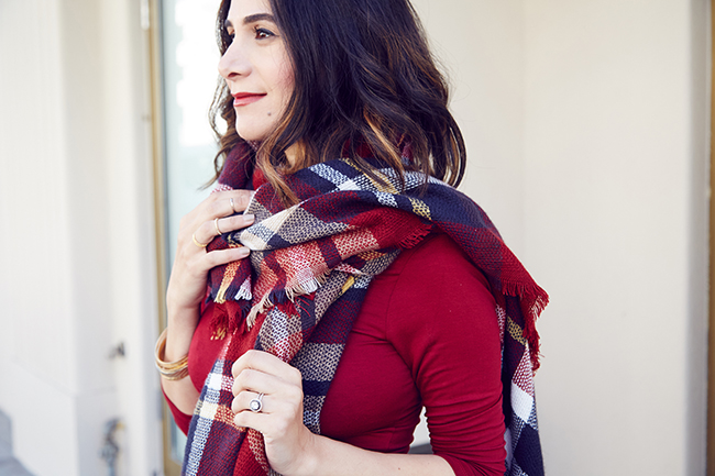 cute plaid scarf