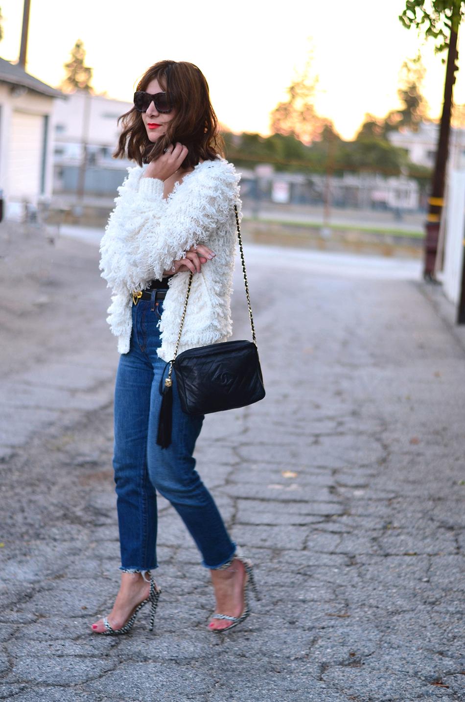 vintage fringe sweater