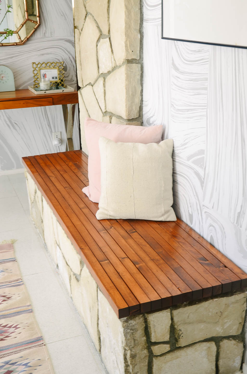 slat bench diy