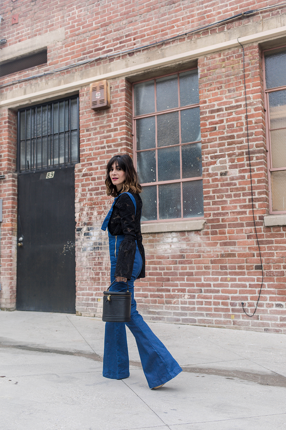 How to Glam Up Overalls