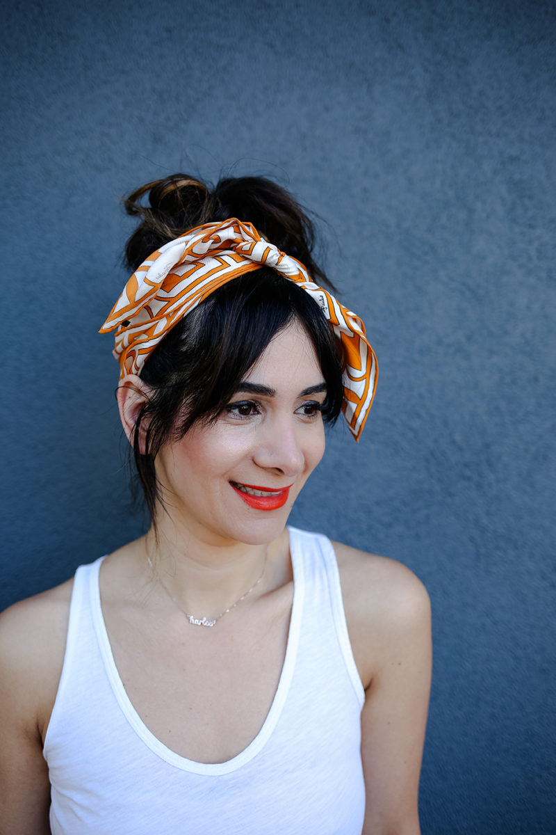 How to Tie a Scarf in your Hair