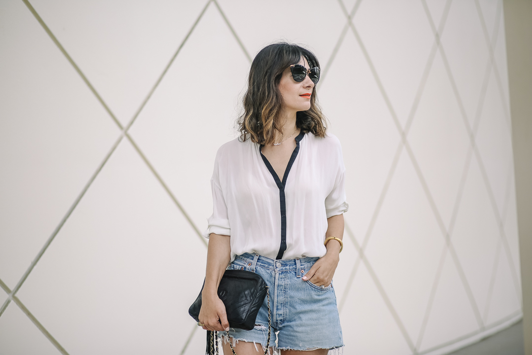 how to dress up denim shorts style tips