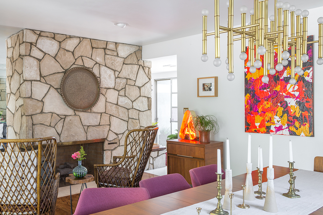 mid century modern bohemian dining room