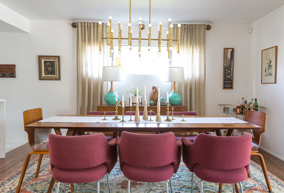 A Vintage Splendor Mid Century Modern Dining Room Reveal,What Is The Best Color For A Metal Roof