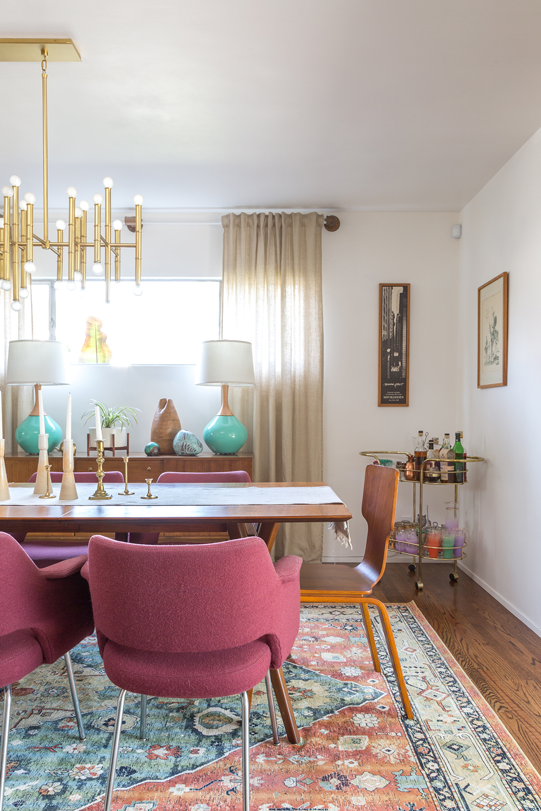 A vintage splendor mid century modern dining room reveal for Mid century modern dining rooms