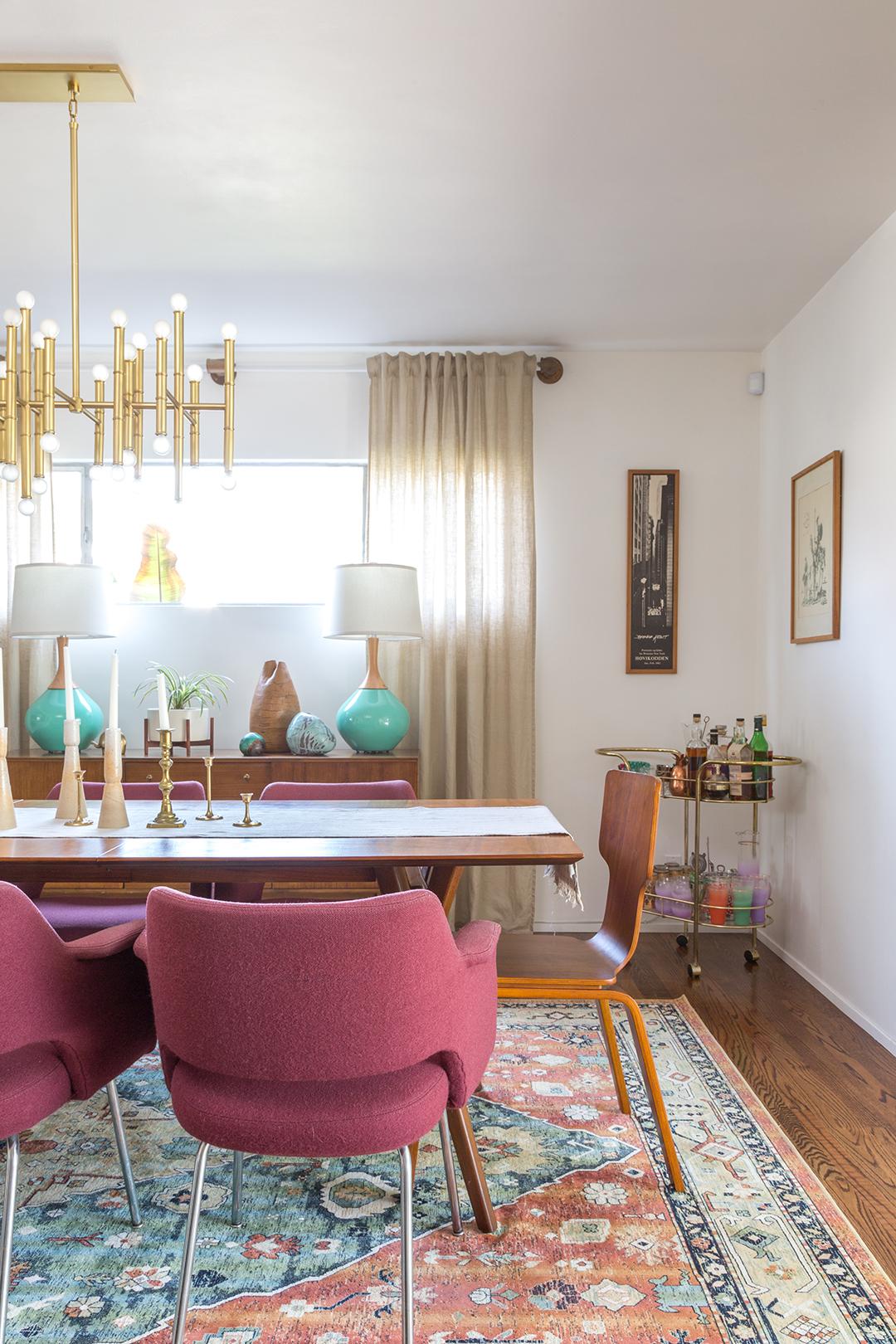 Modern Dining Room Furniture: A Vintage Splendor Mid Century Modern Dining Room Reveal