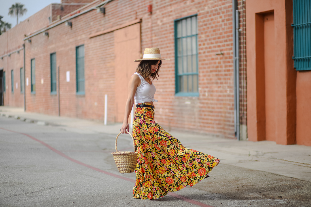 the perfect straw bag for summer
