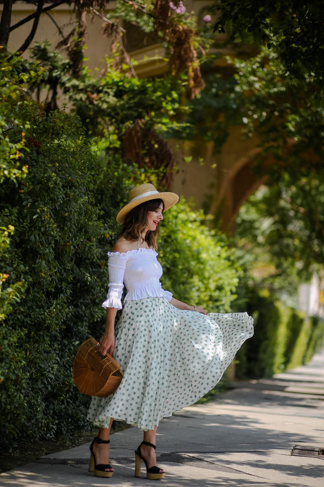 vintage oscar de la renta skirt outfit ideas
