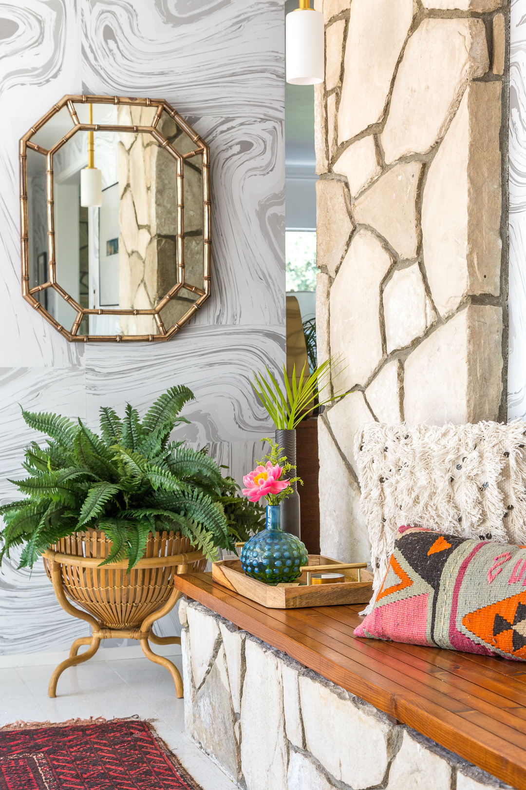 How to Style a Modern Bohemian Entryway - A Vintage ... on Modern Boho Decor  id=99292