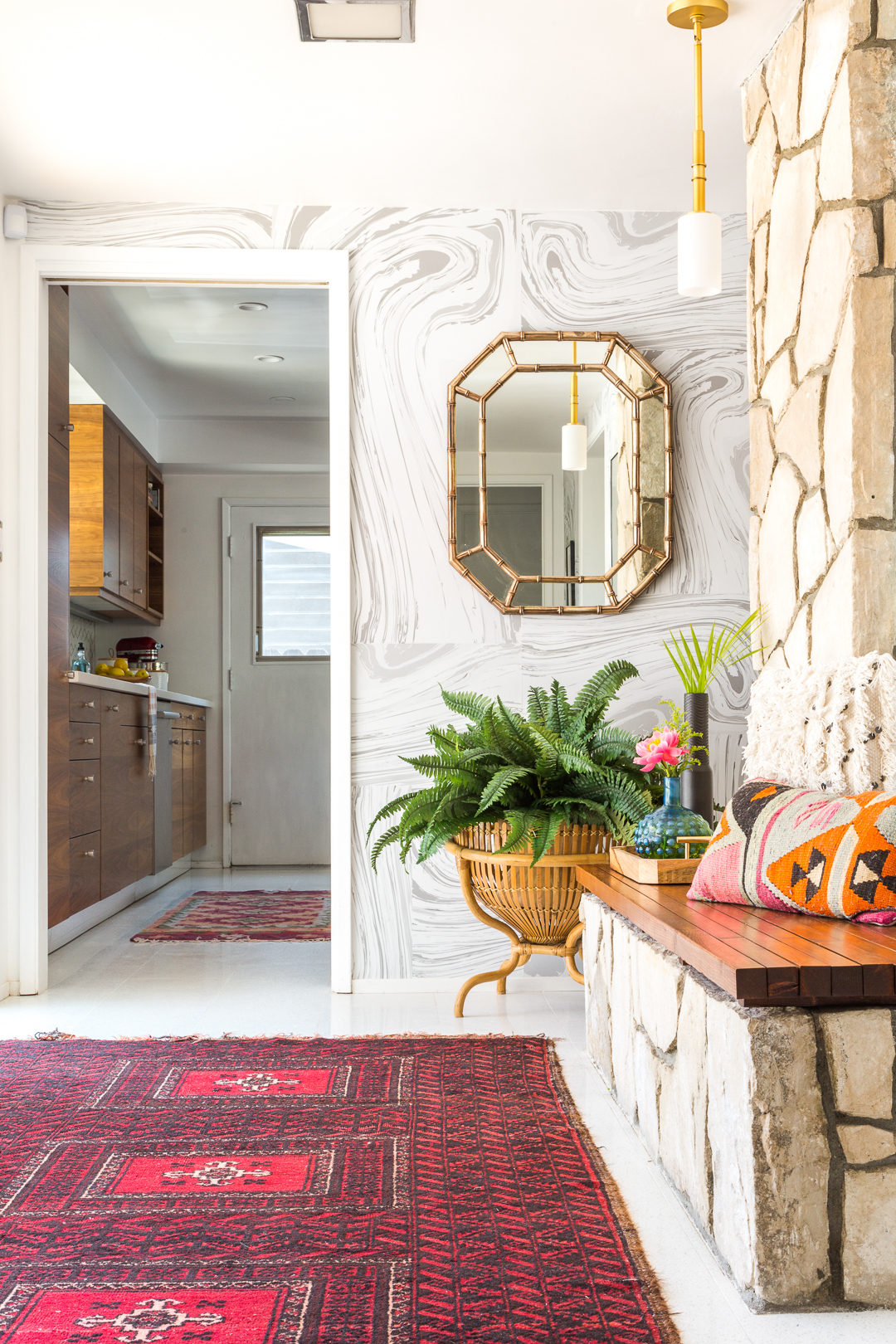 How To Style A Modern Bohemian Entryway A Vintage